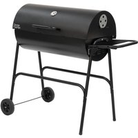 George Foreman Gfdrmbbq Portable Drum Charcoal Bbq - Black, Charcoal
