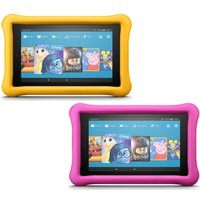 Amazon Fire 7 Kids Edition Tablets Bundle - 16 Gb, Pink & Yellow, Pink