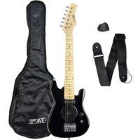 3RD AVENUE STX05 Junior Electric Guitar - Black, Black