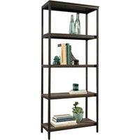TEKNIK Industrial Bookcase - Black & Smoked Oak, Black.