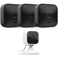 BLINK BLINK Outdoor HD 1080p WiFi Security 3 Camera System & BLINK Mini Full HD 1080p WiFi Plug-In Security Camera Bundle