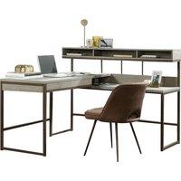 TEKNIK Manhattan View L-Shaped Desk - Oak