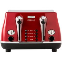 Buy DELONGHI Micalite CTOM4003R 4-Slice Toaster - Red, Red - Currys