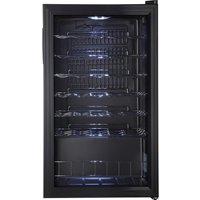 LOGIK LWC34B15 Wine Cooler - Black, Black