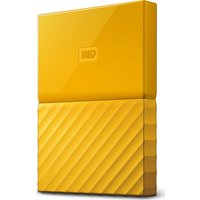 WD My Passport Portable Hard Drive - 1 TB, Yellow, Yellow