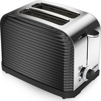 TOWER Linear T20007 2-Slice Toaster - Black, Black