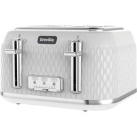 Buy BREVILLE Curve VTT911 4-Slice Toaster - White & Chrome, White - Currys PC World