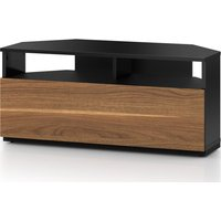 SONOROUS Troy TRD100 1000 mm CRN TV Stand - Black & Walnut, Black