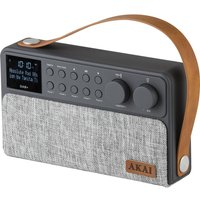 AKAI A61028 Portable DABﱓ Bluetooth Radio - Grey, Grey