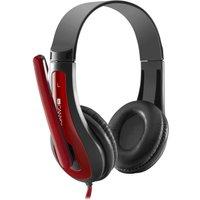 CANYON CNS-CHSC1BR Headset - Black & Red, Black