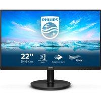 "PHILIPS 222V8LA Full HD 22"" LCD Monitor - Black, Black"