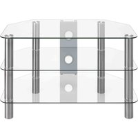 LOGIK S800CG14 TV Stand, Silver
