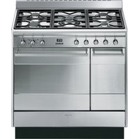 SMEG Concert 90 cm Dual Fuel Range Cooker - Stainless Steel, Stainless Steel