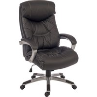 TEKNIK Siesta 6916 Leather Reclining Executive Chair - Black, Black