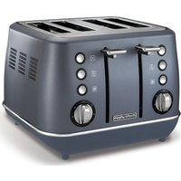 Buy MORPHY RICHARDS Evoke 4-Slice Toaster - Steel Blue, Blue - Currys PC World