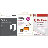 Microsoft Office Home & Student For Mac, 2 Tb Cloud Storage & Livesafe Unlimited Bundle