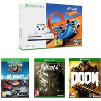 MICROSOFT Xbox One S & Games Bundle