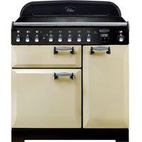 RANGEMASTER Elan Deluxe ELA90EICR 90 cm Electric Induction Range Cooker - Cream and Chrome, Cream