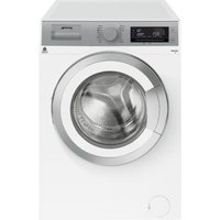 SMEG WHT914LUK1 9 kg 1400 Spin Washing Machine - White, White.