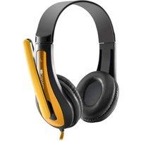 CANYON CNS-CHSC1BY Headset - Black & Yellow, Black