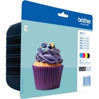 BROTHER LC123 Cyan, Magenta, Yellow & Black Ink Cartridges - Multipack, Cyan