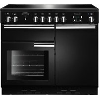 Rangemaster Professional+ 100 Electric Induction Range Cooker - Black and Chrome, Black