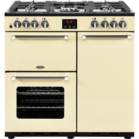 BELLING Kensington 90DFT Dual Fuel Range Cooker - Cream and Chrome, Cream