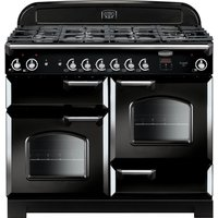 Rangemaster Classic 110 Gas Range Cooker - Black and Chrome, Black