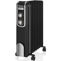 SWAN SH60010BN Oil Filled Radiator   Black  Black