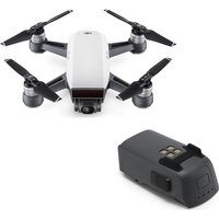 DJI Spark Drone & Intelligent Flight Battery Bundle - Alpine White, White