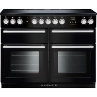 Rangemaster Nexus SE NEXSE110EIBL/C 110 cm Electric Induction Range Cooker - Black and Chrome, Black