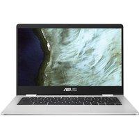 "Asus C423NA 14"" Intel Celeron Chromebook - 32 GB eMMC, Black & Silver, Black"