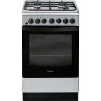 INDESIT IS5G4PHSS 50 cm Duel Fuel Cooker - Silver, Silver