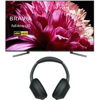 55 Sony Bravia Kd55xg9505bu Smart 4k Ultra Hd Hdr Led Tv & Wireless Noise-cancelling Headphones Bundle
