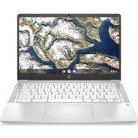 "HP 14a 14"" Chromebook - Intel®Pentium Silver, 64 GB eMMC, White, Silver"