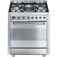 SMEG C7GPX8 70 cm Dual Fuel Range Cooker - Stainless Steel, Stainless Steel