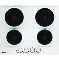 ZANUSSI ZEE6940FWA Electric Solid Plate Hob - White, White