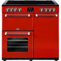 Click to view product details and reviews for Belling Kensington 90 Cm Electric Ceramic Range Cooker Red Chrome Red.