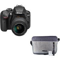 NIKON D3400 DSLR Camera with 18-55 mm f/3.5-5.6 Lens & Accessory Bundle, Black