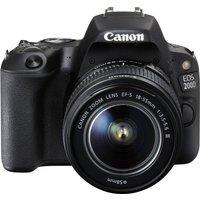 CANON EOS 200D DSLR Camera with EF-S 18-55 mm f/4-5.6 DC Lens - Black, Black