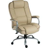 TEKNIK Goliath Duo Bonded Leather Reclining Executive Chair - Cream, Cream