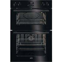 AEG DEE431010B Electric Double Oven - Black, Black