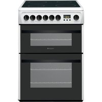 HOTPOINT DCN60P.1 60 cm Electric Ceramic Cooker - White, White