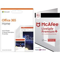 McAfee LiveSafe Premium 2020 & Microsoft Office Home Bundle
