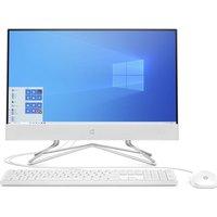 "HP 22-df0008na 21.5"" All-in-One PC - Intel®u0026regCeleron, 128 GB SSD, White, White"