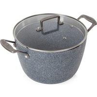 TOWER T90982 24 cm Non-stick Casserole Dish - Granite Grey, Grey