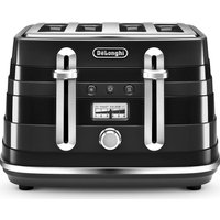 Buy DELONGHI Avvolta CTA4003.B 4-Slice Toaster - Black, Black - Currys PC World