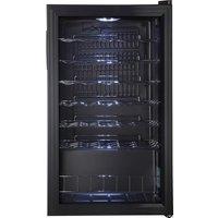 LOGIK LWC34B18 Wine Cooler - Black, Black
