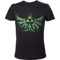 'Nintendo Legend Of Zelda Green Triforce Logo T-shirt - Xl, Black, Green