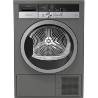 GRUNDIG GTN38250MGCG 8 kg Heat Pump Tumble Dryer - Graphite, Graphite